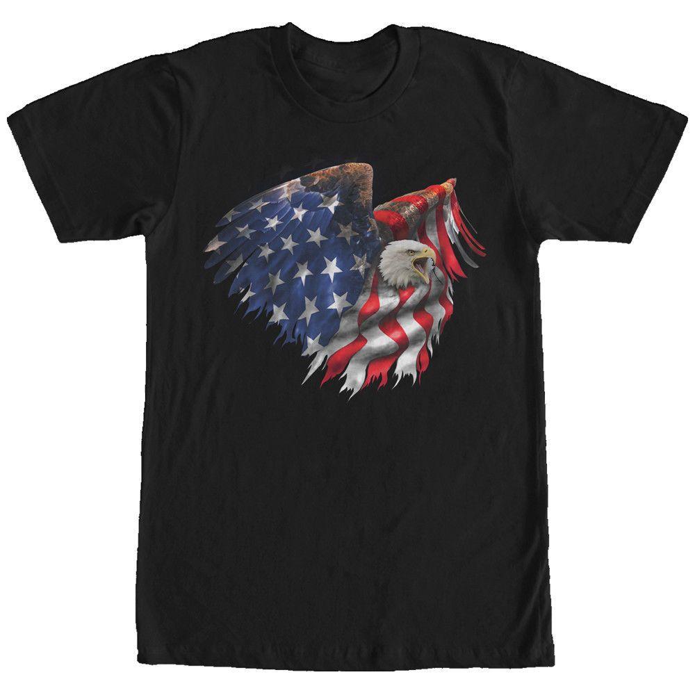 Compre Deuses Perdidos Águia Americana Bandeira Americana Mens Gráfico T  Shirt Design Personalizado Engraçado Camisas Personalizadas 100% Algodão De  Manga ... cb4ba6b276647