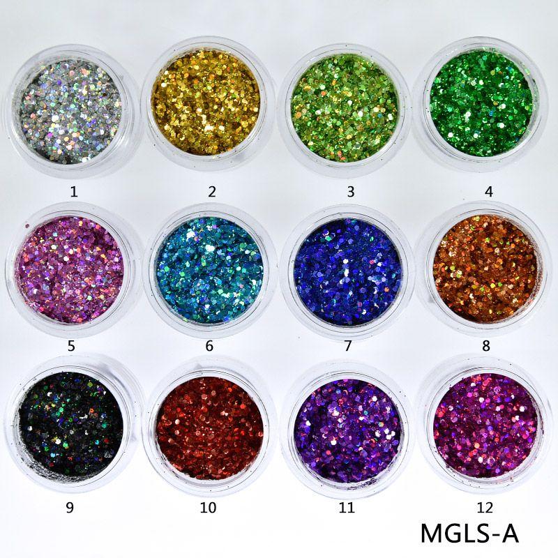 10ml Box Laser Nail Glitter Mixed Holographic Hexagone Nail Sequins  Paillettes Art Glitter Sparkles Manicure Dust a8d2408d7c15
