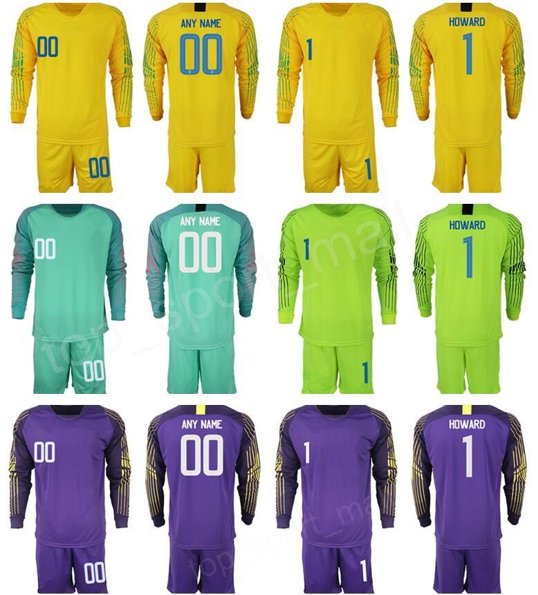 2019 Man Soccer Jersey Goalkeeper 1 Tim Howard Bill Hamid Zack Steffen Hope  Solo STADIUM Green Yellow Football Kits Short Long Sleeve Custom Name From  ... 58e06ed1a