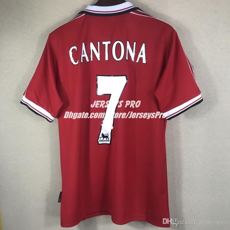 55c479bec 2019 Eric Cantona 1998 1999 98 99 Retro Soccer Jerseys Camiseta Old  Trafford Home Red Football Shirts Tops Maillot De Foot Maglia Di Calcio  From Jerseyspro