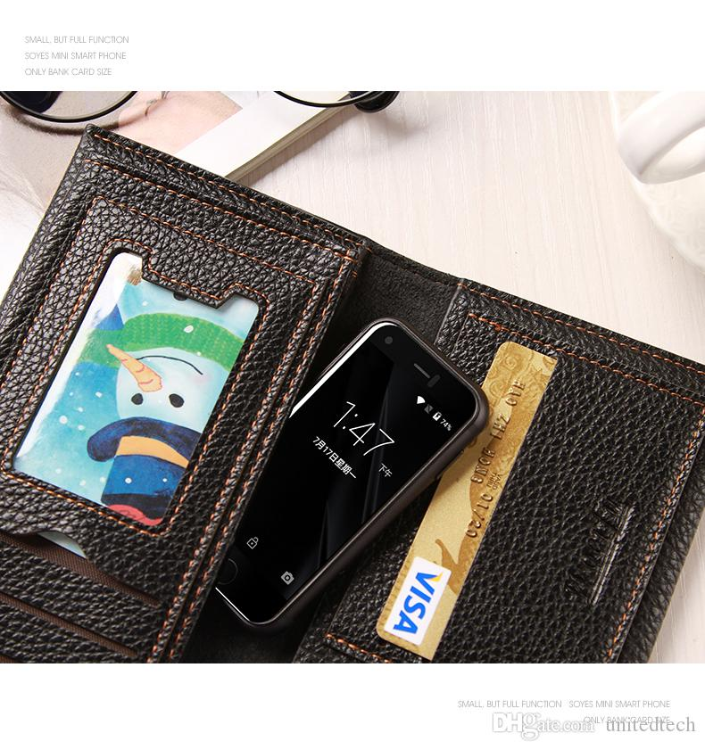 Super Mini Android Smartphones Original Soyes 7s MTK6580 Quad Kern 1 GB + 8 GB + 16 GB Speicher 5,0Mp Dual Sim Cell Handy x rot goldene Farbe