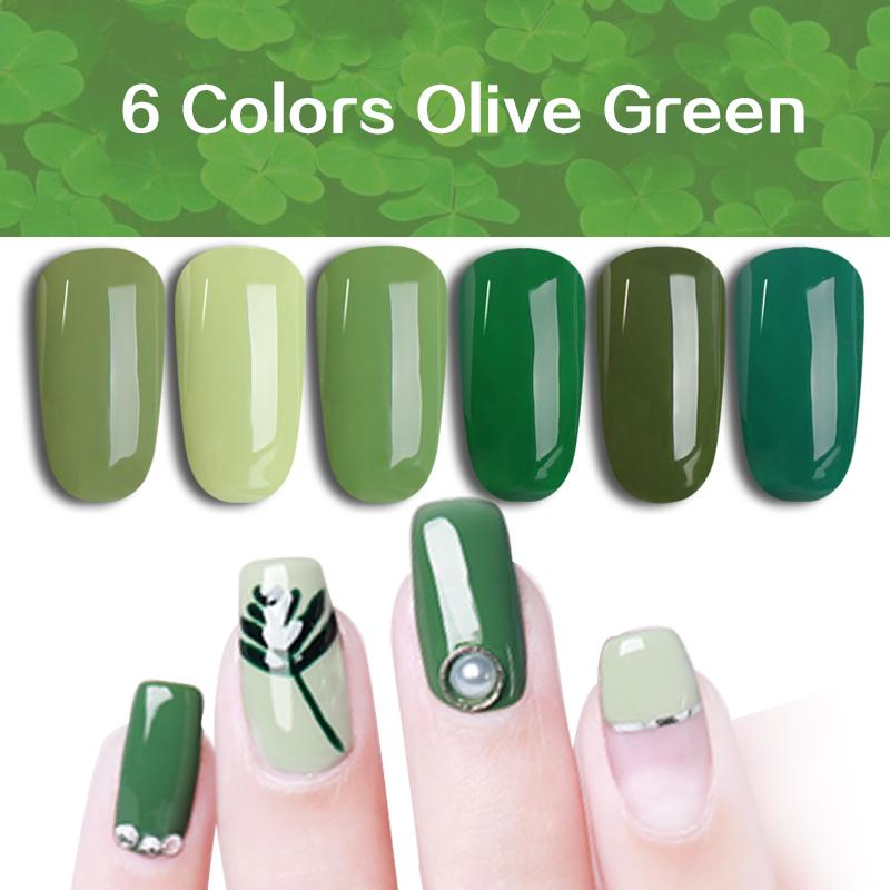 Ms. Queen 10ml Olive Green Gel Nail Polish UV Varnish Soak Off Red ...