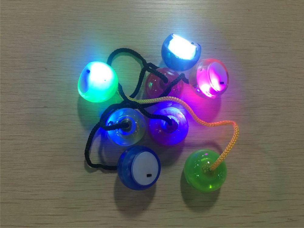 LED Yoyo Luminous Fidget Ball Toys Glowing Yo-Yo Light Finger Extreme Movement Cubes Spinner Anti-Stress Toy