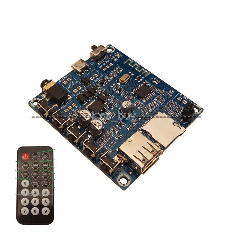 Freeshipping Bluetooth audio receiver board U disk USB TF card MP3 WMA,  MP3, WAV, FLAC decoding player FM radio remote