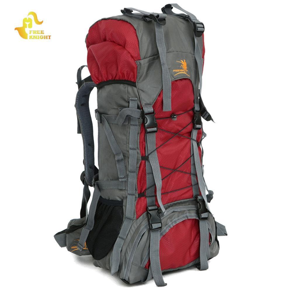 8a6519671f3c 60L Nylon Waterproof Large Capacity Backpack Rucksack Trekking ...