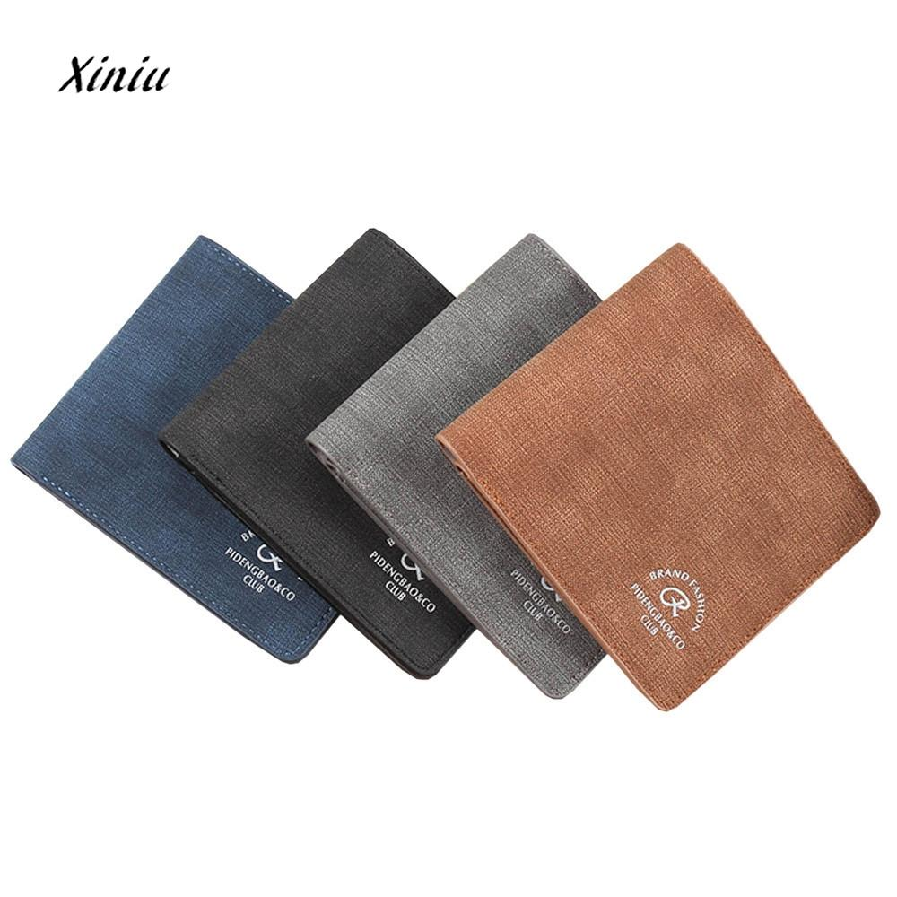 bdb5b76aceec Fashion Men Leather Brand Luxury Wallet Vintage Minimalist Short Slim Male  Purses Money Clip Dollar Price Portomonee
