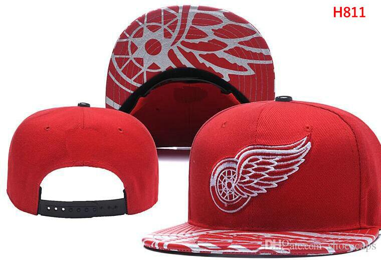 Wholesale New Arrival DETROID Red Snapback Wings Caps Adjustable All ... 84e43595c