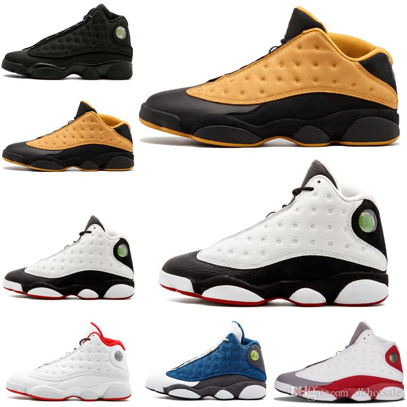 premium selection 3fb9b babe5 Hot sale 13 13s He Got Game pure money men basketball shoes Phantom black  cat Chicago bred Hyper Royal sports sneakers size US 8-13