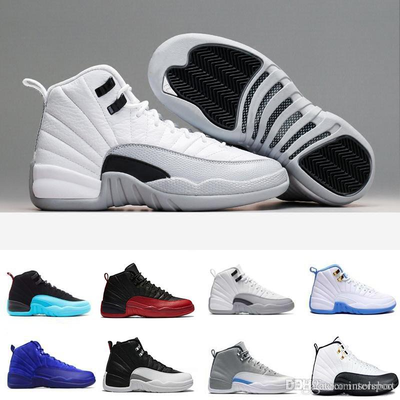 42aa048509cc42 Cheap 12 Men Basketball Shoes Sunrise Bordeaux Dark Grey Wheat Flu Game The Master  Taxi Playoffs French Blue Barons Gym Red Sports Sneakers Playoffs Taxi ...