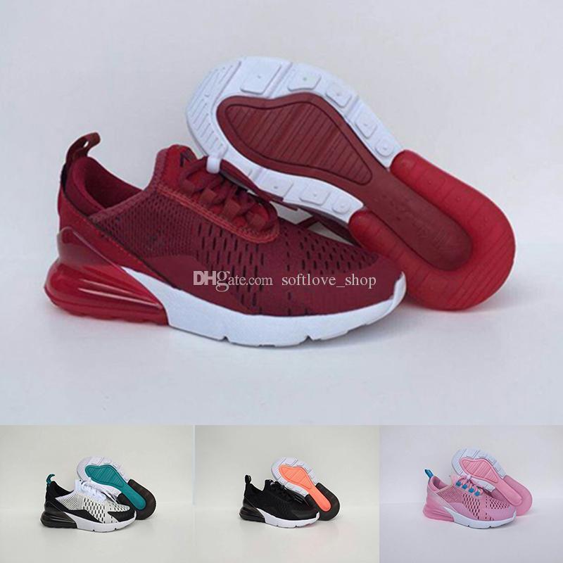Compre Nike Air Max 27c Infantil Almofada De Ar 270 Crianças Correndo  Sapatos Preto Branco Vapormax 270 Criança Ao Ar Livre Menino Atlético  Menina Crianças ... c415c206bc675