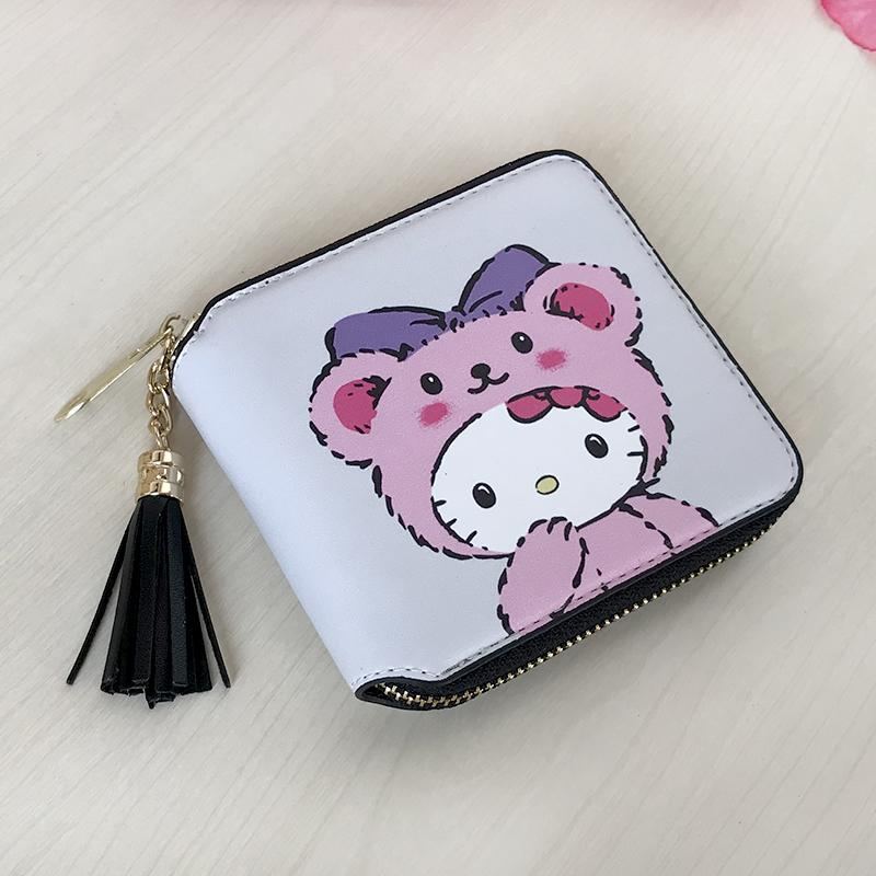 e8cd6b497358 Cute Cartoon Hello Kitty Boys Girls Short Wallet Card Holder Clutch Coin  Cash Purses Student Boy Girl Child Small Bag Gift Hipster Purse Samaritan S  Purse ...