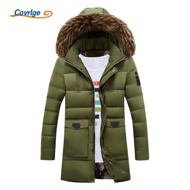 Covrlge Men Parka Long Coat 2017 New Winter Parkas Hooded Fashion Warm  Quilted Jacket Green Parka For Men Mens Overcoat MWM038 UK 2019 From Dayup 2f32b6dc18d4