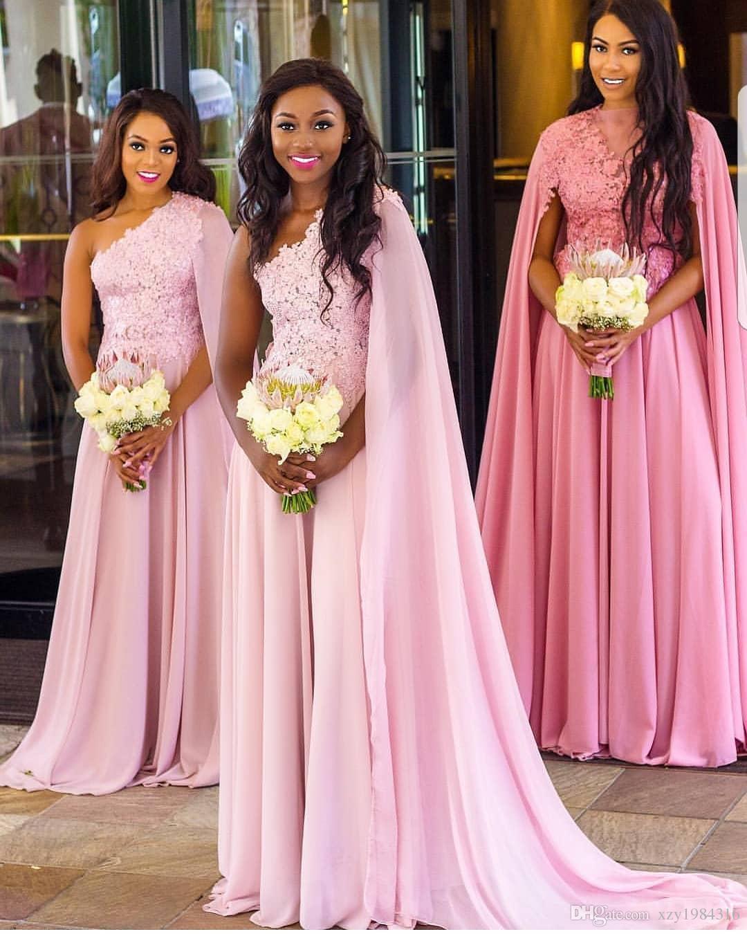 Venta al por mayor Sudáfrica vestidos de dama de honor de gasa con ...