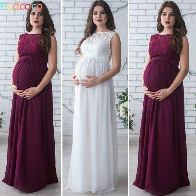 Vestidos de noche color vino para embarazadas