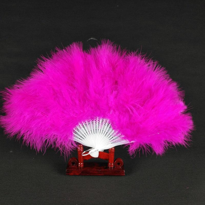 12 pollici 21 pezzi di plastica piuma d'oca Fan Pieghevole ventilatore palmare piuma Flapper accessori per matrimoni fase multi-colore seleziona