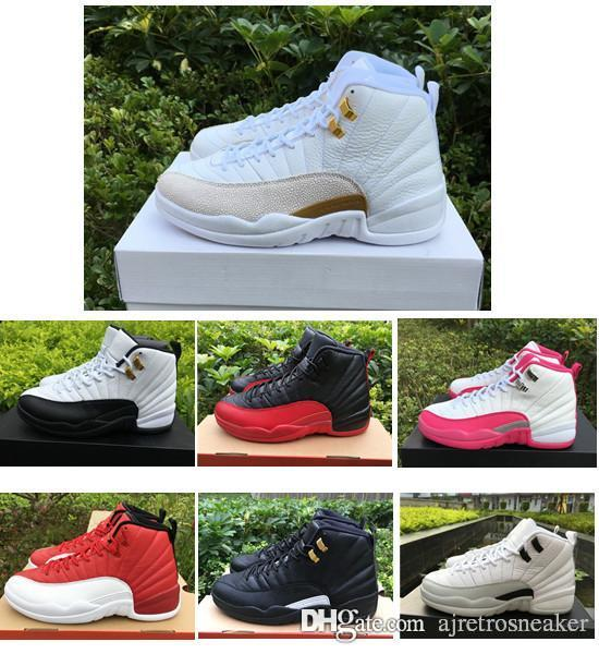 600b49ba3a9 New Cheap 12s 12 White Flu Game Wolf Grey Gym Red Taxi Gamma French Blue  Suede Women Basketball Shoes Perfect Sneakers Mens Sneakers Mens Basketball  Shoes ...