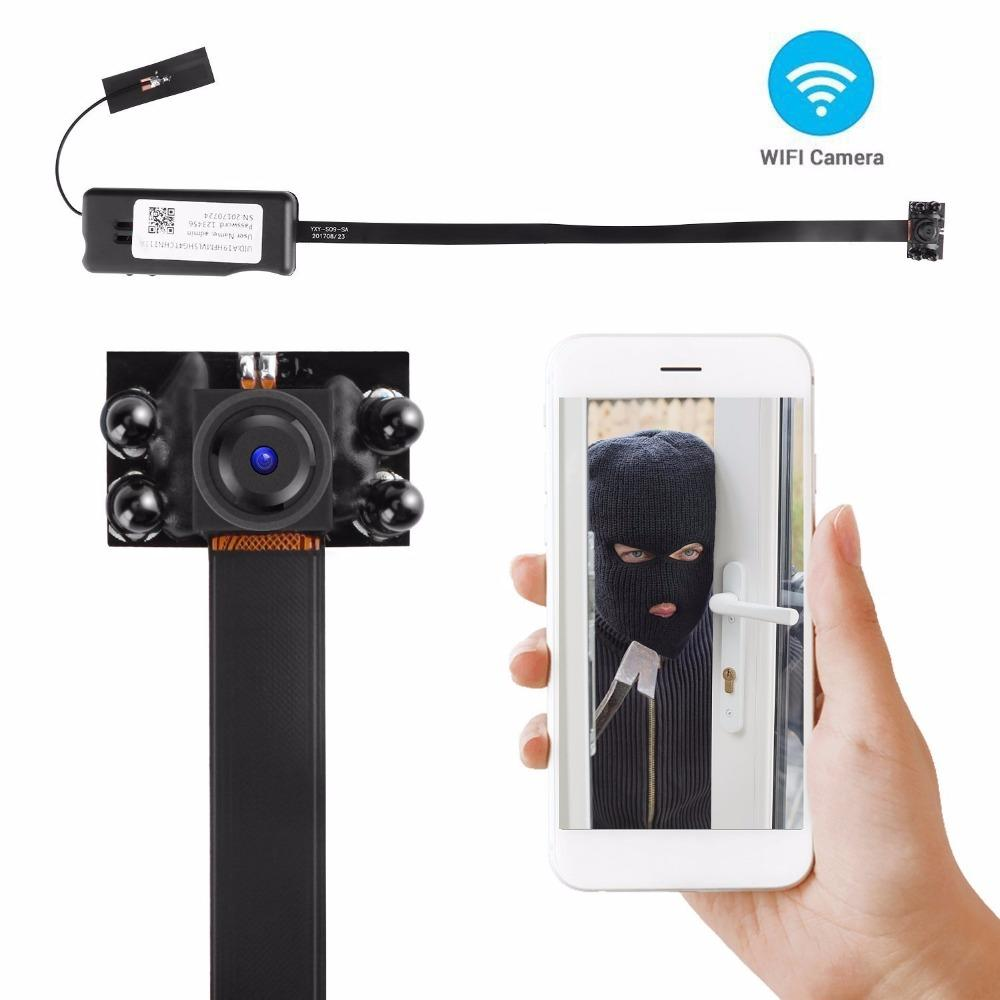 On Sale HD 1080P WIFI Mini Camera DIY Module Wireless IP Cam Nanny Security  Cameras for Android iPhone APP Motion Detection