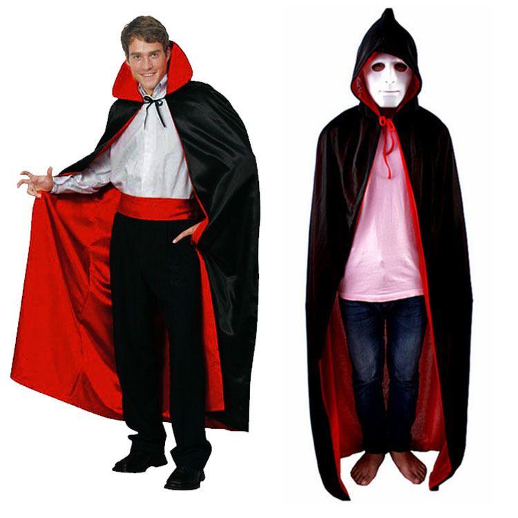 Compre Disfraz De Halloween Para Hombre Cape Death God Capa Roja Con - Disfraz-de-halloween-para-hombre