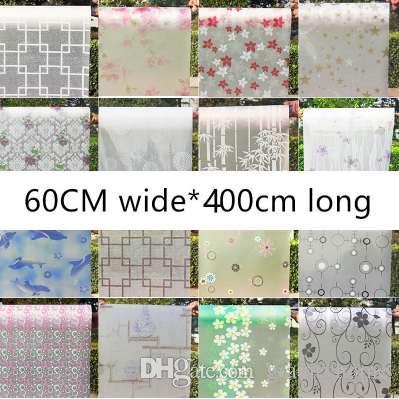 Acheter 60cmX400cm Transparent Opaque Papier Glacé Verre Dépoli  Autocollants Fenêtre Film Salle De Bain Ombre Fenêtres Peintes Cellophane  De $31.51 Du ...