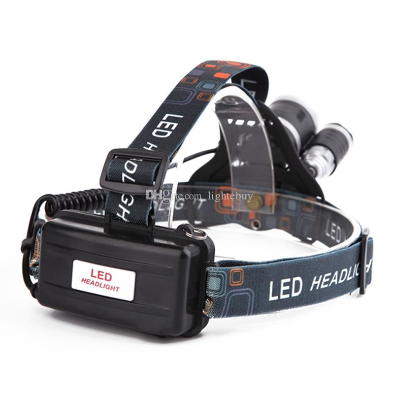NUEVO 5000 lúmenes 3x XM-L 3T6 LED luz de la linterna del faro de la linterna para la caza camping XML T6 LED faro