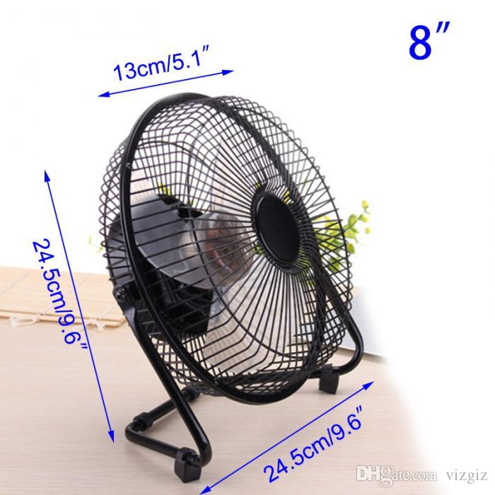 6/8/10 Inch Brushless Electrical USB Fan Metal 360degree Rotatable Ultra Silent Rechargeable Laptop Cooler Fans XXM8
