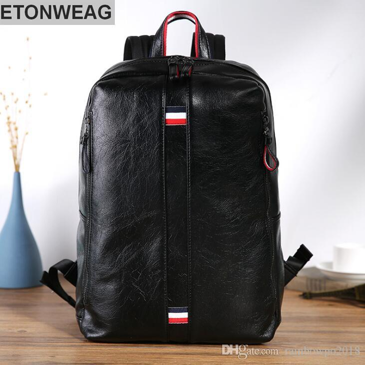 56c0b1dd85c0 Wholesale Brand Male Bag Fashion Soft Leather Shoulder Backpack ...