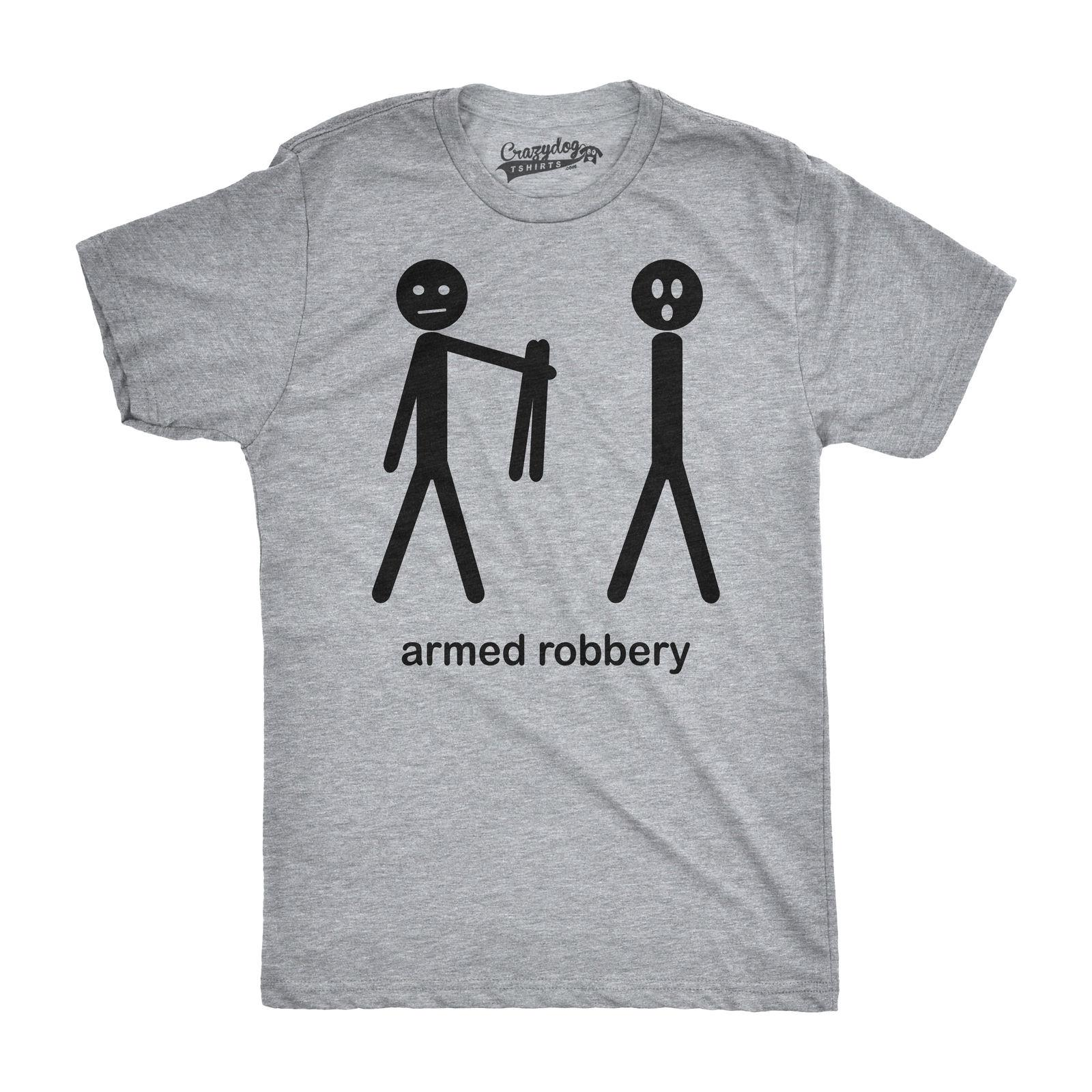 f3e6d732 Details Zu Mens Armed Robbery Funny Stick Figure Drawing Sarcastic  Hilarious T Shirt Grey Casual Funny Unisex Tee Gift White T Shirt Designs  Awesome T Shirt ...