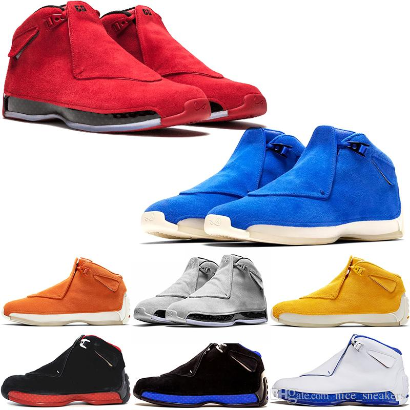 81cb0bf601c5 Wholesale Men 18 18s Toro Basketball Sport Shoes Red Suede Yellow ...