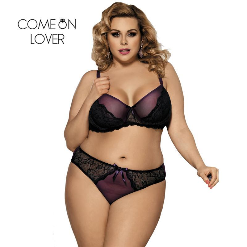 91a5afb356 Comeonlover Ensemble Sous Vetement Femme Lingerie Purple Boudoir Women Lingerie  Erotic Set Plus Size Sexy Lingerie Sets RI80273 Y1892810 Bras And Panties  ...
