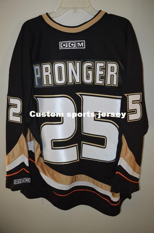 2019 Cheap Custom CCM 2007 Stanley Cup Anaheim Ducks CHRIS PRONGER 25  Jersey Mens Personalized Any Name Number Stitching Jerseys XS 6XL From ... 261175cb0