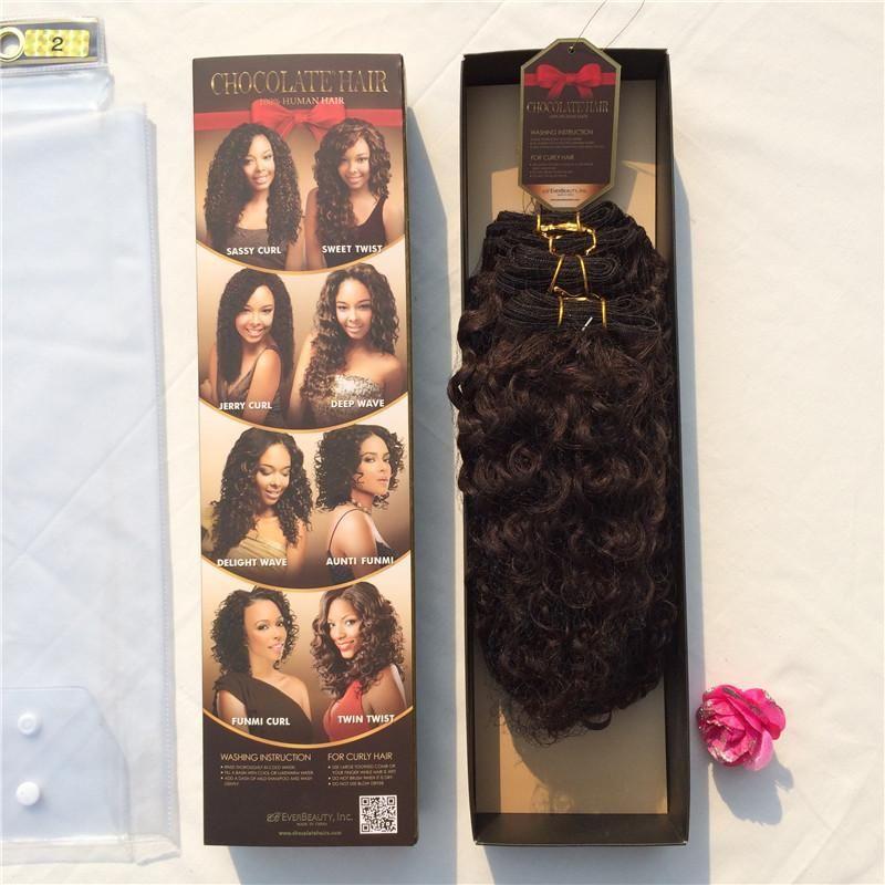 Evertress Chocolate Sassy Curl 1pack 178g10101214 Closure100