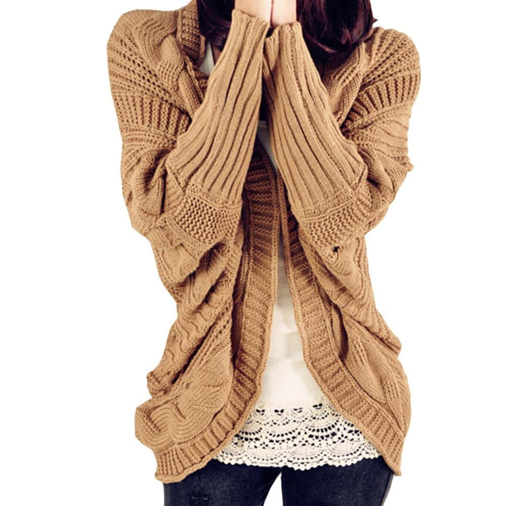 Compre Otoño 2018 Invierno Suelto Suéter Mujer Manga Corta Murciélago  Viento Flojo Grueso Abrigo De Lana Suéteres Mujer Suéteres Cardigans A   19.78 Del ... a825ce2e9714