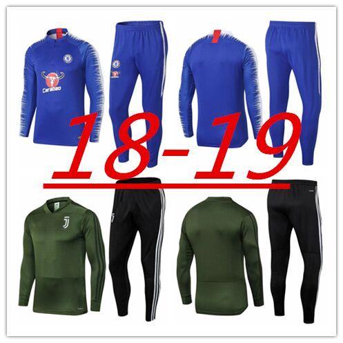 703e345ef8 2019 2018 2019 Chelsea Training Suit HAZARD DYBALA Soccer Tracksuit 18 19  HIGUAIN MARCHISIO Track Suits RONALDO Football Jackets From Mbappe1108