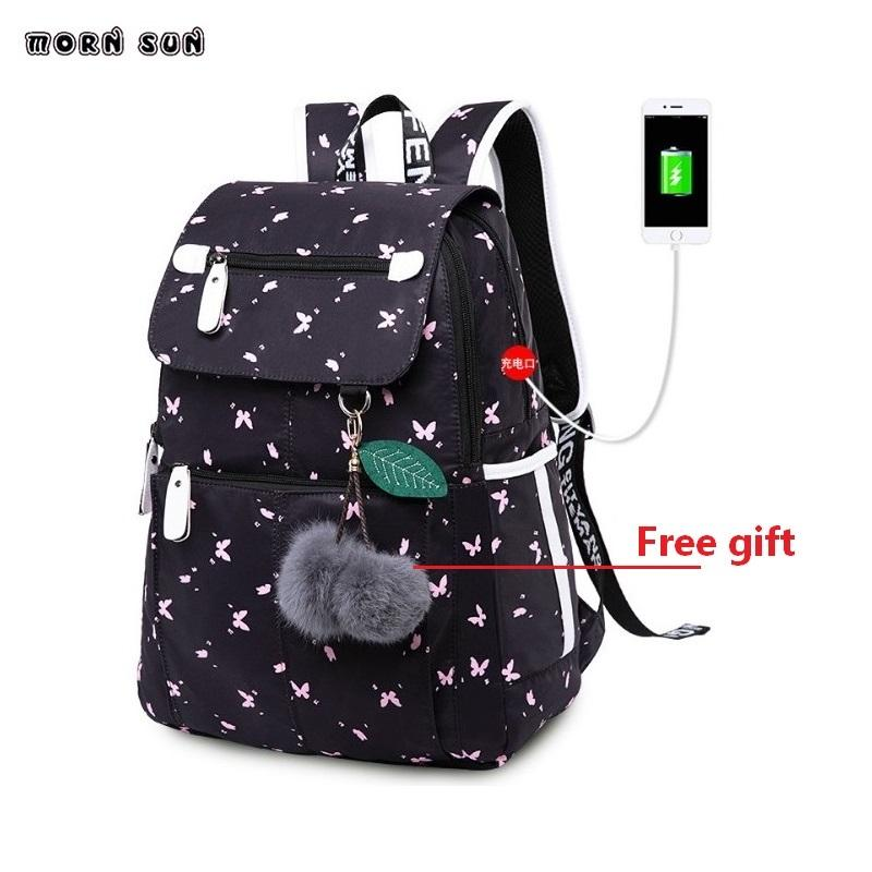 School Bags For Teens Girl Waterproof Laptop Backpack Student Fashion School  Bag Cute Backpack For Kids Shoulder Bag School Y18110107 Vintage Backpacks  For ... 14afcb5775