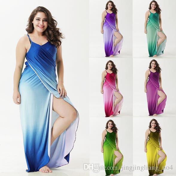 91b113ca1fc1d Summer Female Beach Dresses Cover Ups Sexy Bikini Swimwear Bikinis Gradient  Colors Casual Dresses CCA8760 Party Dress Sleeves Long Black Dress For Sale  From ...