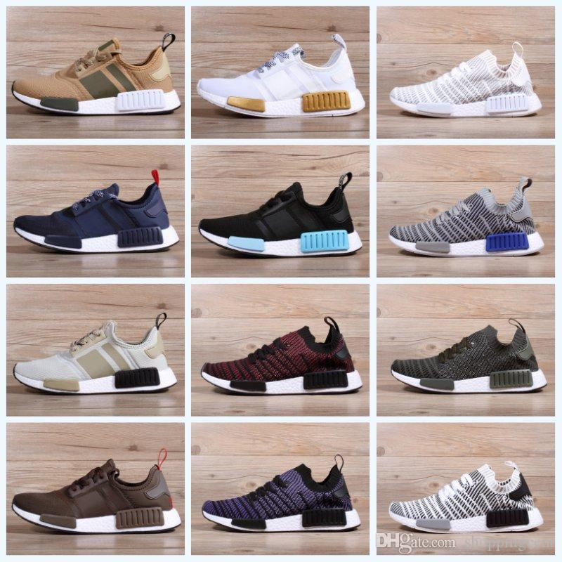 dbff2cf4fcb 2019 new design R1 PK running shoes for men women best Primeknit breathable  Womens boots high quality cheap Sports Sneakers Size 36-45