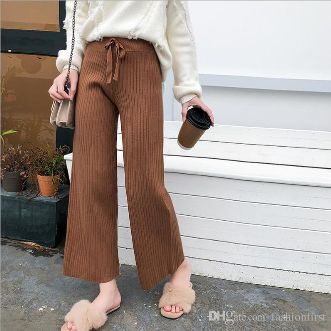 5df2bea91e30 2019 SWEATER Quilted Knit Pants Fall Fashion Winter Style Bell Bottom Boho  Yoga Gypsy Hippie Chic Flare Black Gray Brown Khaki Pants From  Fashionfirst