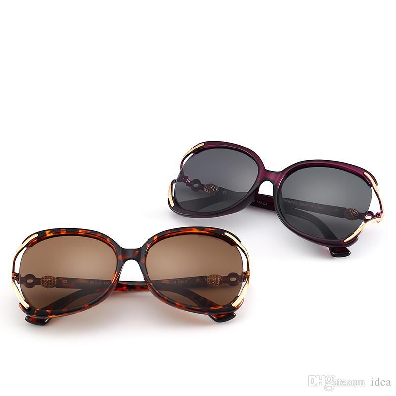 62106c10f Compre Nova Moda Oco Óculos De Sol 55022 Mulheres De Luxo Designer De Marca  Big Frame Popular Óculos De Sol Moda Estilo Unisex 100% Óculos De Proteção  Uv De ...