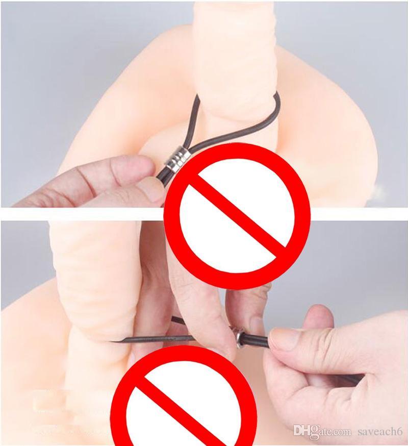 Cock Chain Verstellbare Spermasperre Penisringe Time Delay Cockringe - Adult Game Sex Toys Produkte für Männer
