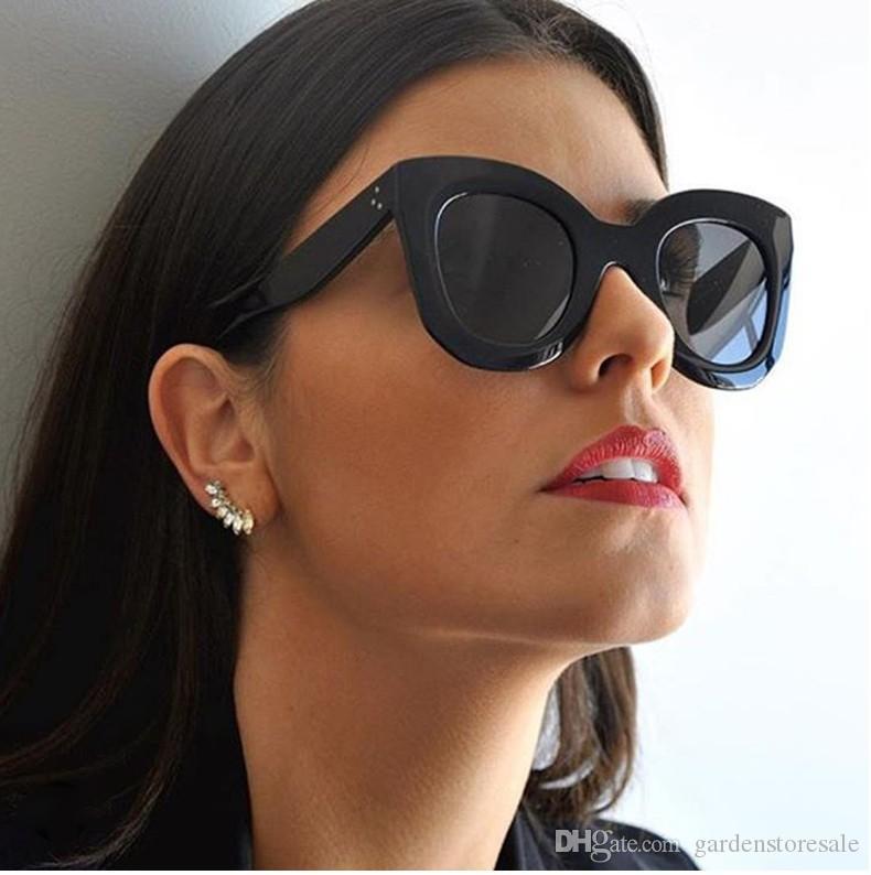 جديد أزياء القط العين النظارات النساء العلامة التجارية مصمم خمر التدرج القط العين النظارات ظلال oculos دي سول
