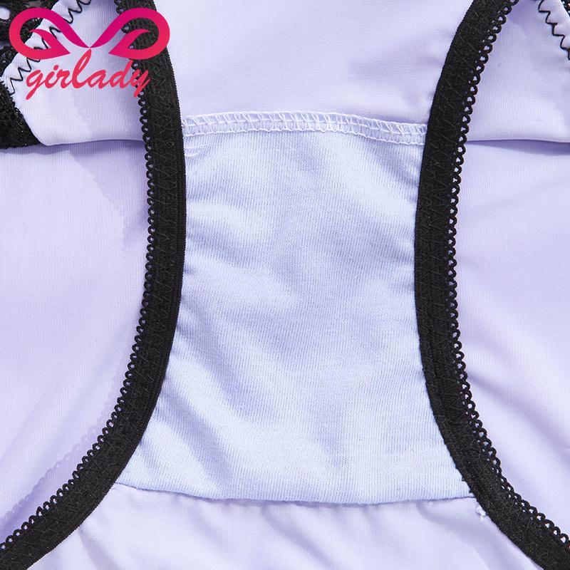 Dentelle Spandex Femmes Culottes Marque Patchwork Conception Mémoires De Luxe Soyeux Touch Dames Sous-Vêtements 5 Couleurs Sexy Dames Mémoires