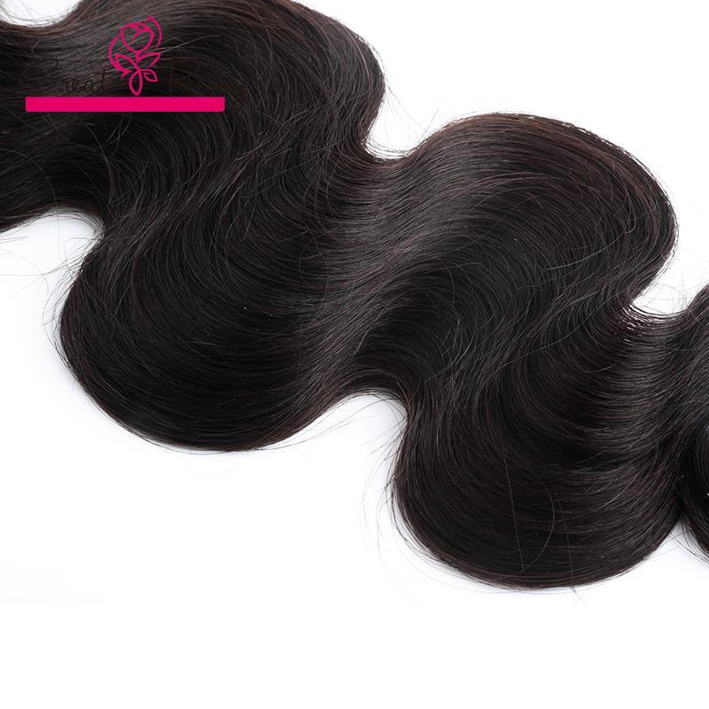 Greatremy® 3 stks / partij Donor Braziliaanse Virgin Haar Weave Bundels Natuurlijke Zwarte Body Wave Rechte Krullende Human Hair Extensions 300g /