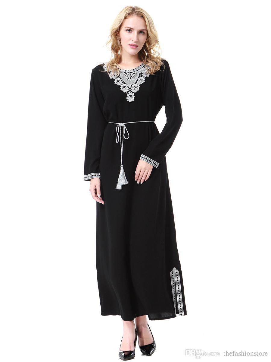2019 Factory Price Muslim Women Chiffon Kaftan Dress Plus Size Islamic  Women Jilbab Dress With Belt S 3XL From Thefashionstore df41415e6