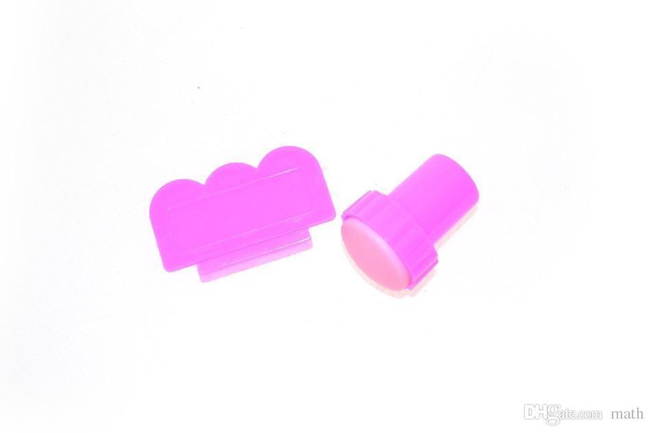 DIY Nail Stamper Set Stamping Nail Art Kit Nail Stamp + plastic Scraper knife for Image paint Plate Design