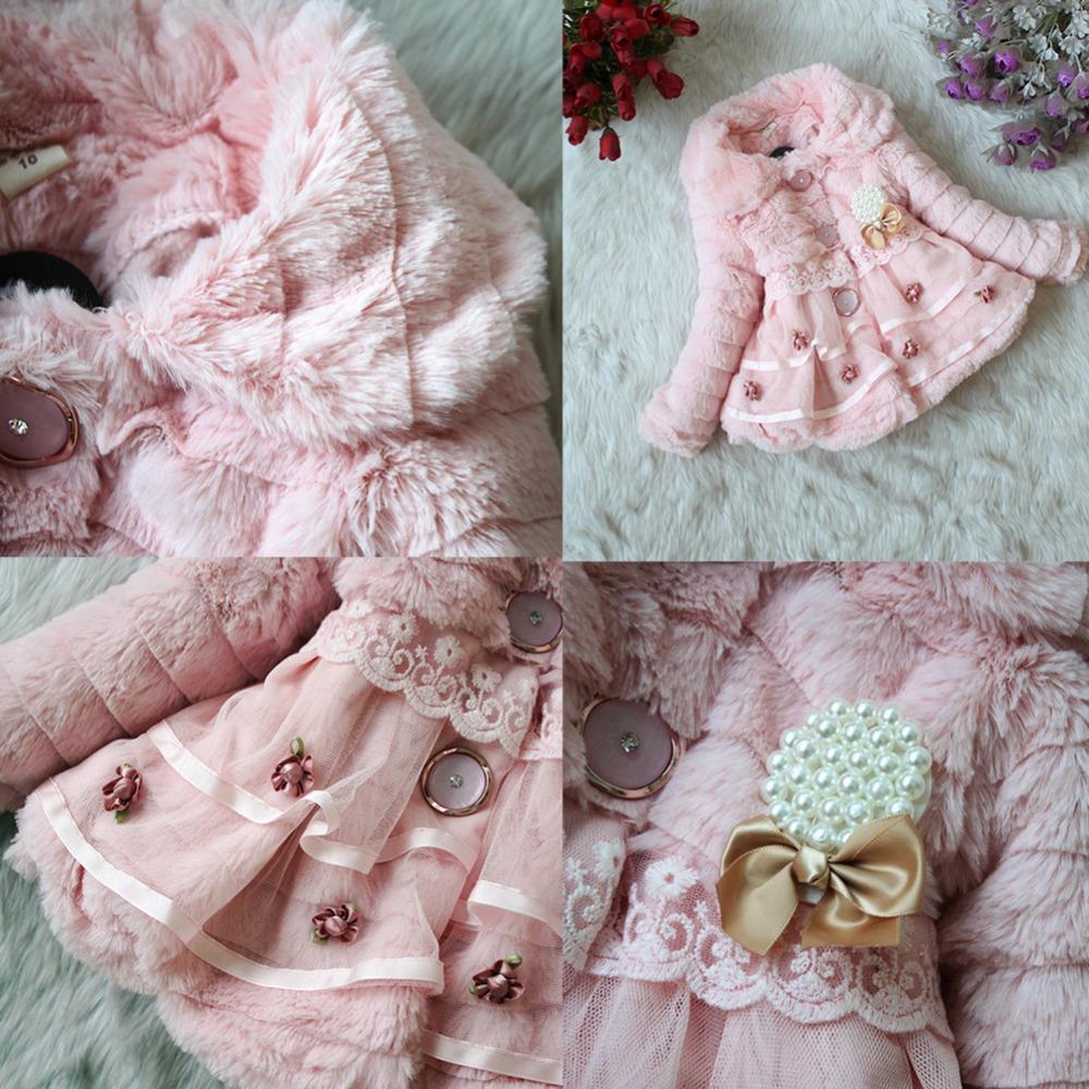 Baby Kind Mädchen Kunstpelz Fleece Mantel Jacke Winter Xmas Party Schneeanzug Outwear Top für Kleinkind toddle Kind