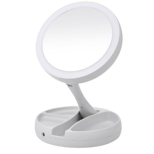 Compre Espejo De Maquillaje Portatil Con Luz Led Espejo De Vanidad