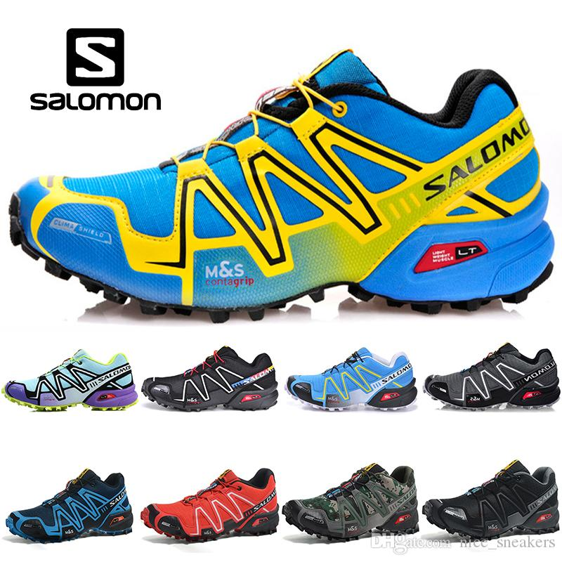 7e620e624036 Salomon Speed Cross 3 CS Men Women Running Shoes SpeedCross Black Green Red  Blue Outdoor Fashion Men Designer Sport Sneaker Size 36 46 Men Running  Shoes ...