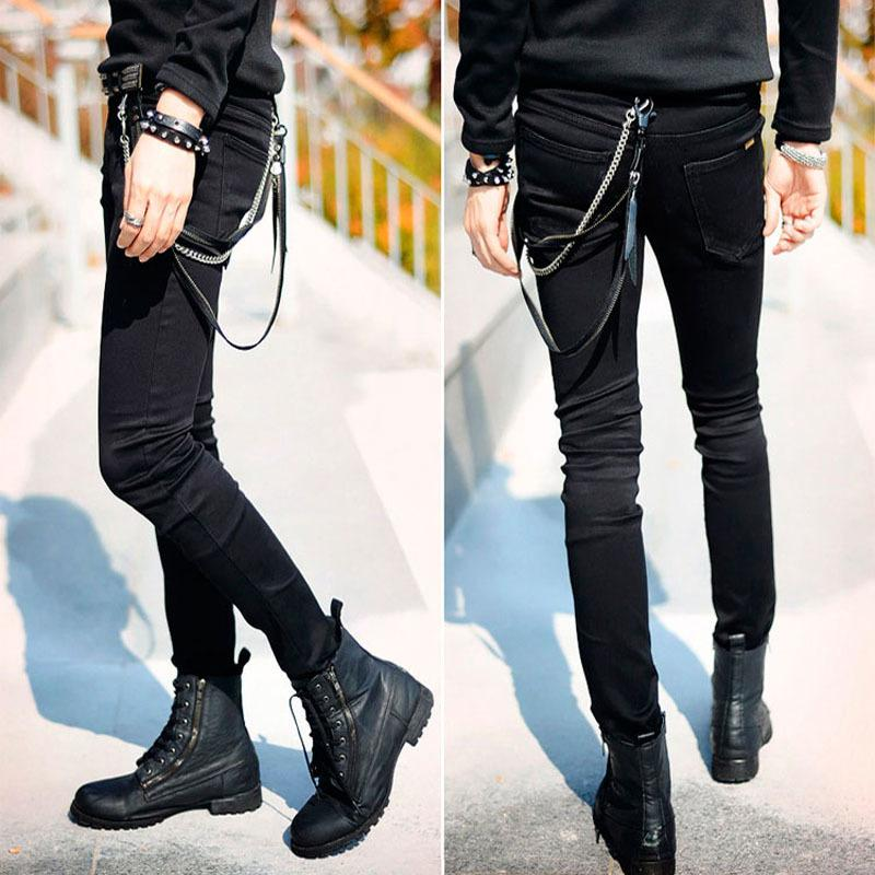 216b6220fd6 2019 Hot Selling Mens Slim Fit Jeans Punk Cool Super Skinny Pants With  Chain For Male Y1892602 From Tao01