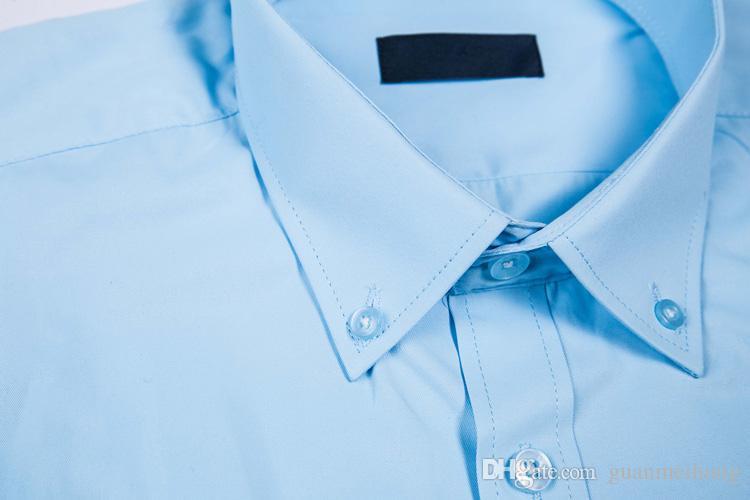 2018 yeni erkek uzun kollu yüksek% 100% pamuklu gömlek kaliteli erkek rahat 9ant moda gömlek sosyal marka erkek gömlek M 4XL