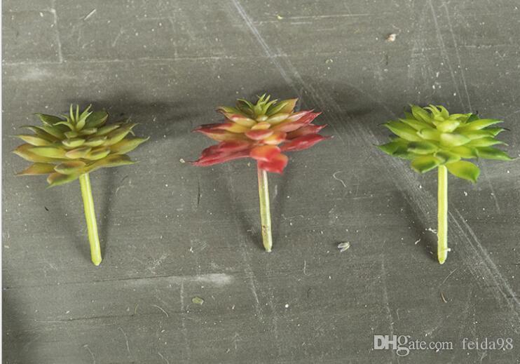 Simulation en plastique bonsaï en pot plante mariage simulation fleur en gros Mini Lu lotus décoration de la maison faux fleur W138